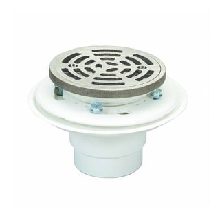 """Proflo PF821200ANR 2"""" ABS Adjustable Shower Drain with Heavy Duty Strainer"""