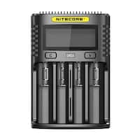 NITECORE UMS4 Intelligent USB Four Slot Superb Battery Charger - Black