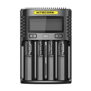 NITECORE UMS4 Intelligent USB Four Slot Superb Battery Charger - Black