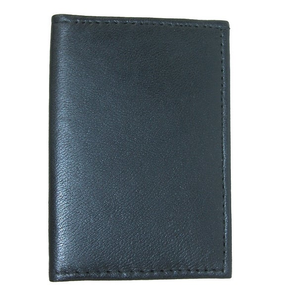 CTM® Leather Ultra Slim Card Case Wallet with ID - One size