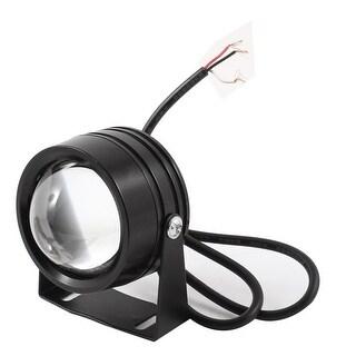 Unique Bargains Motorcycle Black Metal Shell White LED Decorative Spot Light Lamp 12V
