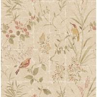Brewster 2669-21701 Imperial Beige Garden Chinoiserie Wallpaper - beige garden