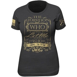 Grunt Style Women's Stop Me T-Shirt - Black (3 options available)