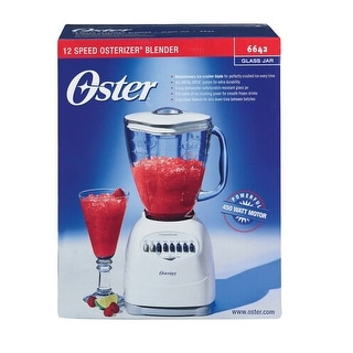 Oster 6642 12-Speed Blender, 450 Watts, White