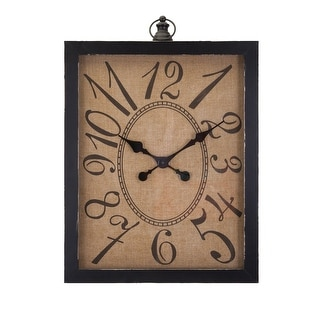 "IMAX Home 10449  31-1/2"" x 21"" Outer Banks Analog Wall Clock by Trisha Yearwood - Black"