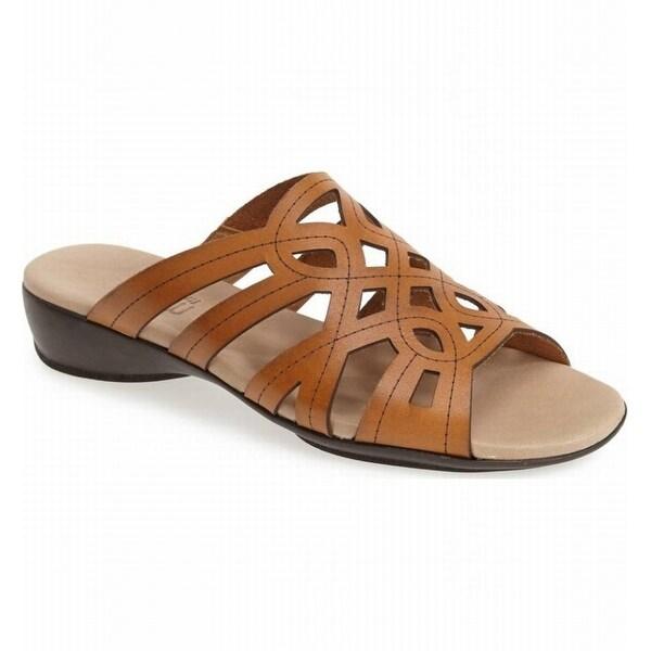 Munro NEW Beige Women's Shoes Size 5W Malia Leather Sandal