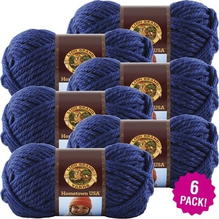 Lion Brand Hometown Usa Yarn 6/Pk-Forth Worth Blue