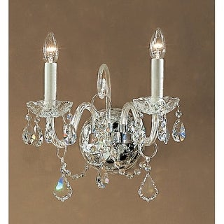 """Classic Lighting 8272-CH 14"""" Crystal All Glass Wallchiere from the Bohemia Collection"""