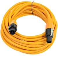 SEISMIC AUDIO 12 Gauge 25 Foot Orange Speakon to Speakon Speaker Cable 25'