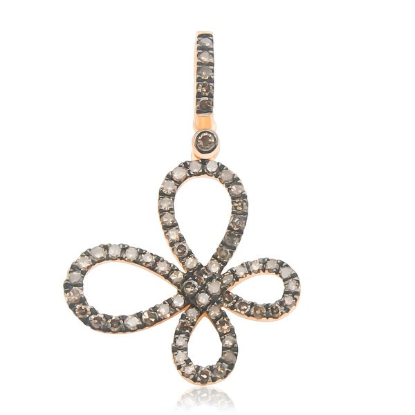 Butterfly Pendant, 0.64ct Brown Color Natural Diamond