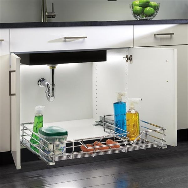 Hd Rev A Shelf Premier Undersink Pullout Chrome 32 50 In Free Shipping Today 25271803