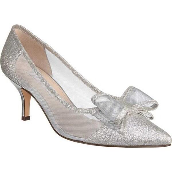 67791553763 Shop Nina Women's Bianca Kitten Heel Pump White Diamond Glitter ...