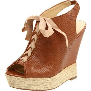Luxury Rebel Womens Carlos Wedge Sandals Leather Lace Up