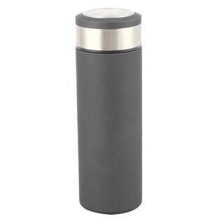 Home Outdoor Stainless Steel Heat Retaining Water Bottle Vacuum Cup Black 500ml