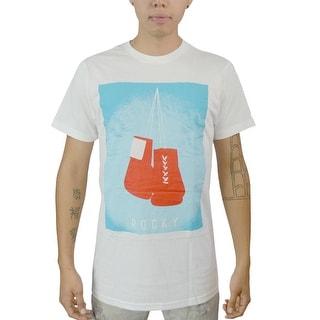 Rocky Boxing Gloves Men's White T-shirt