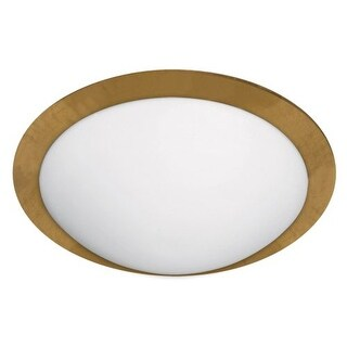 BESA Lighting 9771GFC Ring 2 Light Flush Mount Ceiling Fixture with White / Gold Foil Glass
