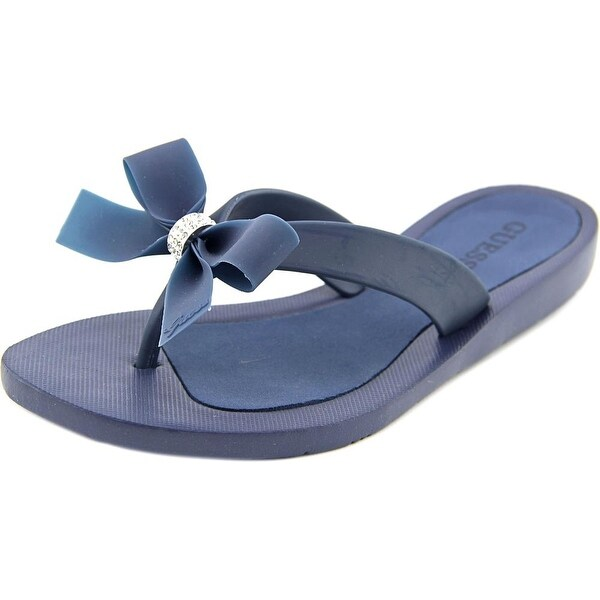 d24a0183b3cdda Shop Guess Tutu Women Open Toe Synthetic Blue Flip Flop Sandal ...