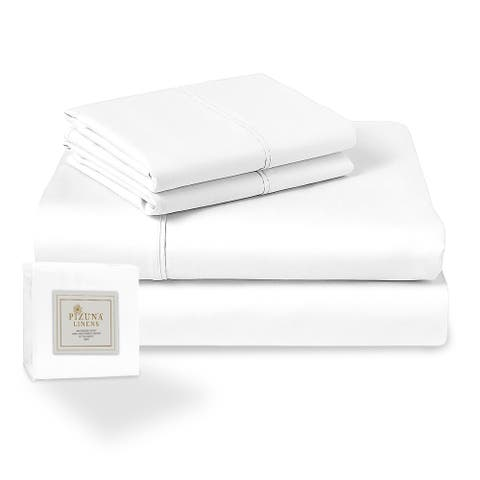 Pizuna 400 Thread Count 15 inch Deep Pocket Cotton Bed Sheet Set