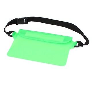 5.9  Width Super Tight Waterproof Green Bag w Belt Loop for Digital Camera Phone
