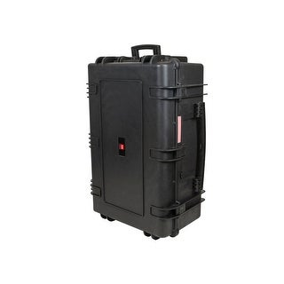 "Monoprice Weatherproof Hard Case with Wheels and Customizable Foam, 33"" x 22"" x 13"""