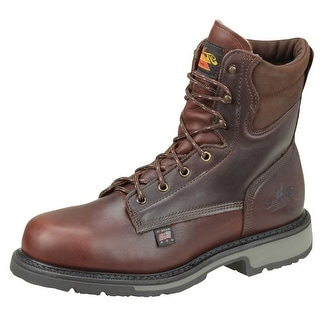 Thorogood Work Boots Men Job Pro Plain Steel Toe Black Walnut 804-4204