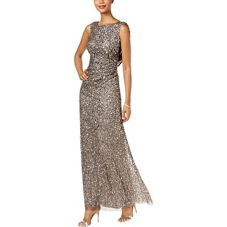 Adrianna Papell Womens Evening Dress Sequined Formal