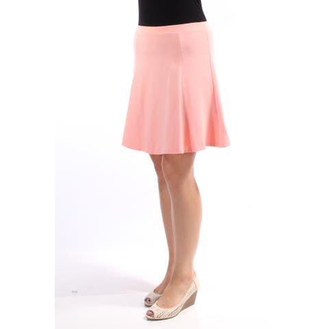 BAR III Womens Pink Above The Knee Fit + Flare Skirt Size: M