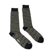 Missoni GM00CMU5231 0002 Olive/Navy Striped Knee Length Socks - M