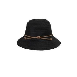 August Hat Black Braided Band Fedora Hat OS