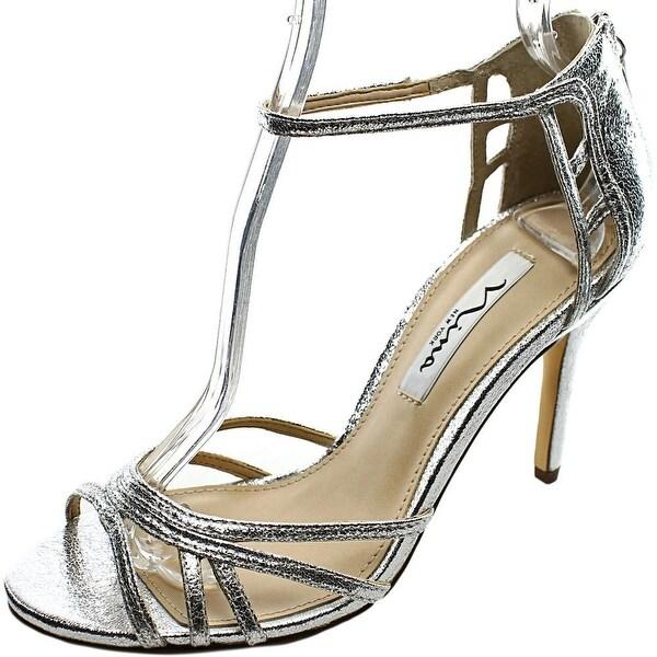 Nina Callie Women Open Toe Synthetic Silver Sandals