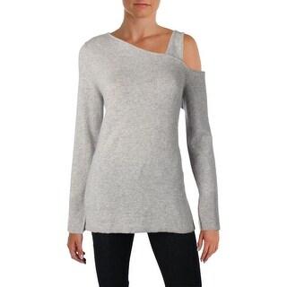 Aqua Womens Pullover Sweater Cashmere Asymmetric