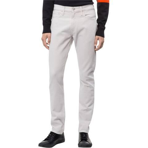 Calvin Klein Mens Wellington Slim Fit Jeans, Grey, 30W x 32L