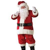 Santa Premier Costume Suit Adult - Red