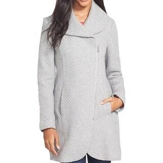 Jessica Simpson NEW Gray Womens Size Small S Shawl-Collar Knit Coat