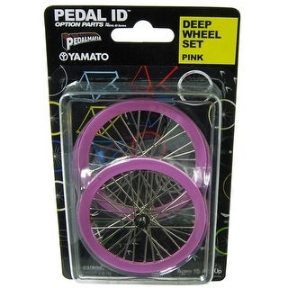 Pedal Id 1:9 Scale Bicycle: Deep Wheel Set: Pink - multi