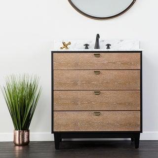 Link to Holly & Martin Tobin Limed Burnt Oak and Marble Bath Vanity Sink Similar Items in Bathroom Vanities