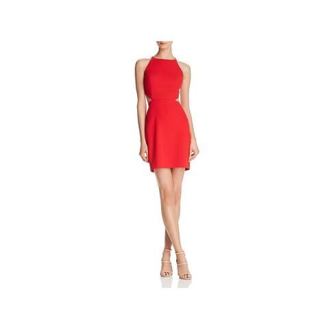 Aidan by Aidan Mattox Womens Scuba Dress Mini Halter