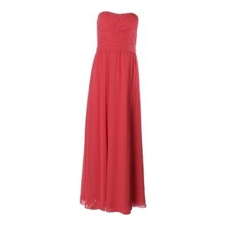 Lauren Ralph Lauren Womens Chiffon Pleated Evening Dress - 0