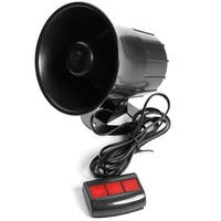12V 15W Car Vehicle Motorcycle 3 Tone Security Warning Sounds Loud Horn Speaker