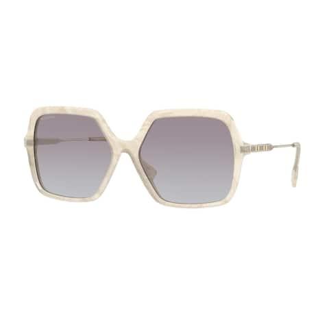 Burberry BE4324 388611 59 Ivory Madreperla Woman Square Sunglasses - Ivory Madreperla
