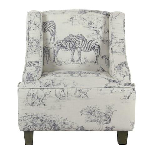 HomePop Kid's Jungle Swoop Chair - Gray Woven