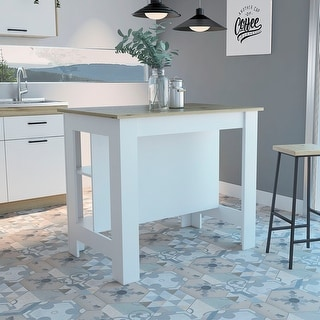Link to TUHOME Cala Two-tone Kitchen Island Similar Items in Kitchen Furniture