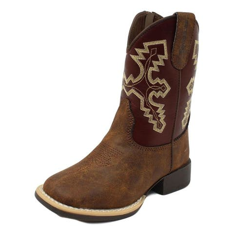 Twister Western Boots Boys Blake Side Zipper Square Toe Piping
