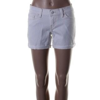 Levi's Womens Juniors Midi Cuffed Flat Front Denim Shorts - 5