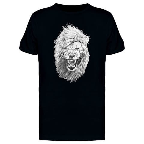 Cool Hipster Lion Sketch Tee Men's -Image by Shutterstock