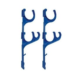 """Set of 2 Blue Pole and Vacuum Hose Swimming Pool Accessory Hangers 12.5"""""""