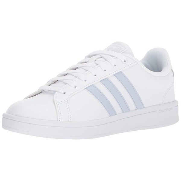 0f5a01efd4 Shop Adidas Women's Cf Advantage Sneaker,White, Aero Blue S, Core ...