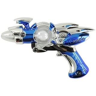 Rhode Island Novelty Super Spinning Laser Space Gun with LED Light and Sound