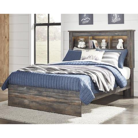 Drystan Rustic Brown Bookcase Bed