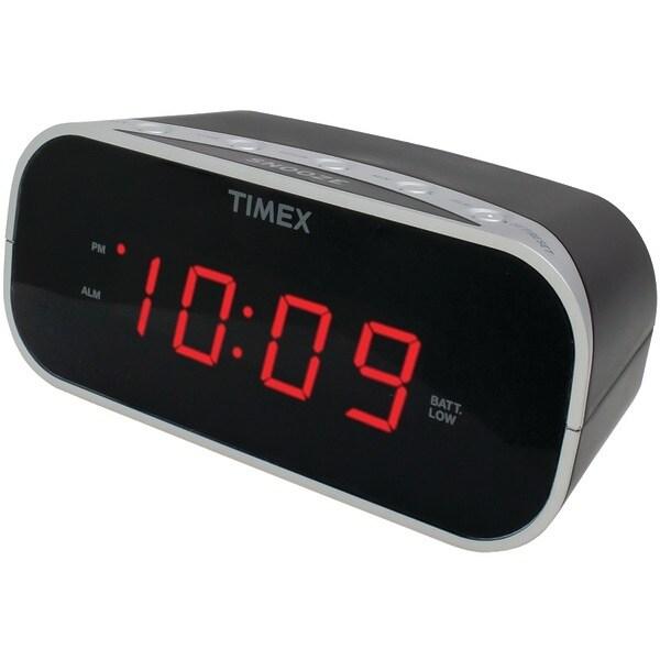 "Timex T121B Alarm Clock With .7"" Red Display (Black)"